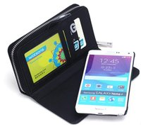 Wholesale Galaxy S3 Silicone Flip - ZIPPER PU Flip Leather Wallet Case Card Slot Photo Frame Holder Pouch For Samsung galaxy S5 S6 Edge G9200 S3 S4 S5 iphone 6 plus Note 4 DHL