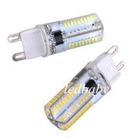 lâmpadas led branco quente venda por atacado-Hot Sale G9 3W 80 LED 3014 SMD cristal de silicone milho lâmpada lâmpada Pure White Warm White 110 / 220V