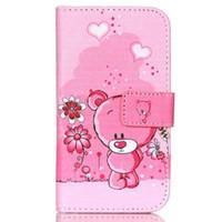 niedliche eule brieftaschen großhandel-Reizende nette Karikatur-Tier-Eulen-Elefant-Mops-Blumen-Mappen-Abdeckung für Samsung Galaxy J2 SM-J200F mit Kartenhalter-Telefonkasten