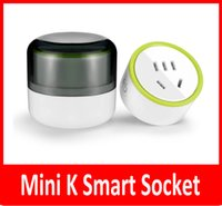 ingrosso presa di corrente wifi-New Mink K Smart Plug WiFi Wireless Smart Power Socket iPhone OS Android Ripetitore per telecomando