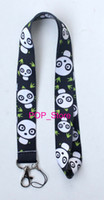 """Wholesale Chain Protectors - Wholesale - new panda Badge ID neck Lanyard straps for MP3 4 cell phone DS lite Key Chain ID Badge Protector 18"""" Free shipping"""