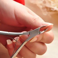 Wholesale Nail Cuticle Trimmer - New Professional Cuticle Scissors Nipper Cutter Clipper Nail Art Care Stainless Steel Tools Manicures Trimmer Dead Skin Remover