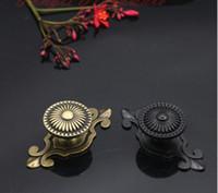 antike kupferkabinettknöpfe großhandel-Antik Kupfer schwarz und Bronze Vintage einzigen Türknauf Möbel Hardware Schrank Griff Küche Schublade ziehen Kleiderschrank Griff Zubehör # 83
