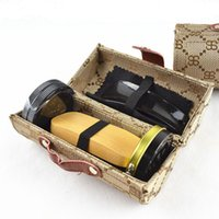 Wholesale Boot Cleaner Brush - Deluxe Barrel Shoe Shine Kit Neutral Polish Brush Set for Boots Shoes Sneakers Cleaning Care