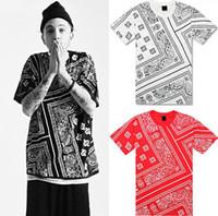 Wholesale La Rhude Bandana Shirts - Tyga Justin Bieber t shirt RHUDE LA Bandana KTZ hip hop t-shirt streetwear tshirts KTZ men Harajuku XXXL 4XL 5XL mens tees tops