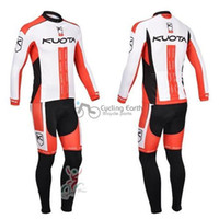 Wholesale Kuota Long - Free shipping! KUOTA 2013 team long sleeve autumn pro kit cycling wear clothes bicycle bike cycling jersey pro jacket set