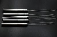Wholesale Aluminium Needles - 20pieces lot Aluminium Thread Hook Tool Needle Loop Micro Ring Hair Extensions beads