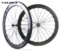 Wholesale Carbon Rear Wheel Clincher - Velosa NSW 454 bike carbon wheelset, 58mm depth 25mm width clincher tubular 700C road bike wheel,super light, custom sticker