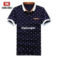 Wholesale Mens Dotted Shirts - 1210 Mens Designer Polo Shirt Brands Summer Style Dots Cotton Polo shirt Short Sleeve Designer Brand Men Polo shirts 2015 camisa polo