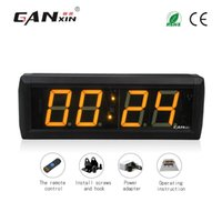 Wholesale Led Digital Count Up - [Ganxin]Wholesale 2.3 inch 4 Digits LED COUNT DOWN UP INTERVAL TIMER STOPWATCH REMOTE CONTROL CLOCK Led Clock Sale in Table Clock