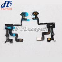 Wholesale Iphone 4s Off - High Quality Proximity Light Sensor Flex Cable Switch On Off Ribbon Power Button Flex Cable Replacement parts For Iphone 4S free shipping