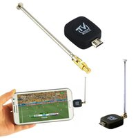 Wholesale mobile hdtv - Digital Micro USB Mobile TV Tuner Stick HDTV SDTV Satellite Finder Receiver Openbox Skybox Antenna for Android 4.0-5.0 Wholesale