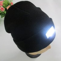 best led beanies - Led Winter Beanie fashion led glowing knitted caps Glowing Hat 5 led glow knitting hat hot sale