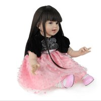Wholesale Diy Princess Girl Gifts - New 55cm Full Silicone Reborn Girl Baby Doll Toys Lifelike Newborn Princess Babies Doll Birthday Gift Bath Educational Toy