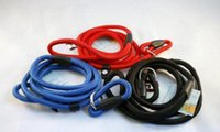 Wholesale Rope Slip Leash - Nylon Rope Dog whisperer Cesar Millan style Slip Training leash lead and collar