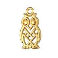 Wholesale Fitness Owl - Fitness 50pcs a lot Zinc Alloy Antique Silver&Gold Custom Night Owl DIY Animal Pendant Charms For Handmade Jewelry