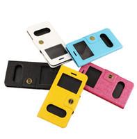 iphone mais 5.5 flip venda por atacado-Virar a resposta livre casos móveis de moda dupla janela pu celular covers todo com suporte maganetic para iphone 6 4.7 6 plus 6 plus 5.5 1 pc