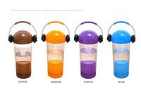 Wholesale Earphone Cup - Creative earphone candy color fresh summer bottle portable my bottle 300ml plastic cup