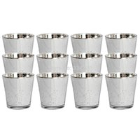Wholesale Buying Candles Wholesale - NEW!Buy 2 lots 15% discount! Silver Mercury Wedding Party Votive Candle Holder USD33.00 for 12pcs Each USD2.75
