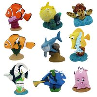 Wholesale Clownfish Figure - free shipping 5sets,9pcs set Finding Nemo collection figures for kids,American Cartoon Clownfish Fish Figure Toys