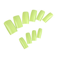 Wholesale Black False French Nails - Pro 500Pcs 10 Size Fake Green Colors French Smooth Design False UV GEL Nails Art Tips Wide Acrylic For DIY Manicure Tools