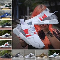 Wholesale Canvas Cushions - Cheap New EQT Cushion ADV Europe Exclusive 91-17 Mens Running shoes Blue white grey Women Equipment Outdoor Athletic sneaker Size 36-45