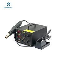 estações de retrabalho a ar quente venda por atacado-FIXPHPONE 220 V SAIKE 852D + 2 em 1 Estação de Retrabalho Ar Digital Quente E Ferro De Solda 400 W para o telefone móvel reparação