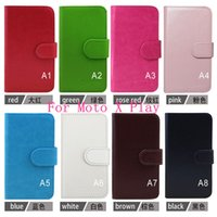 Wholesale One X Credit Card Case - Leather flip phone case For Moto X Play wallet cover inside with credit card slots for one plus two