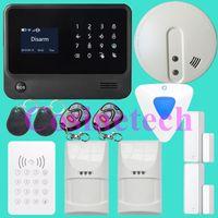 Wholesale Wireless Alarm System Wifi - WiFi Alarm System Wireless GSM Home Security Alarm System IOS Android Control Motion Sensor Alarm