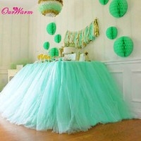 Wholesale Sales Tutu Skirts - Wholesale-SALE-Tulle Tutu Table Skirt for Wedding Decoration White Wedding Table Skirts Event Party Supplies for Baby Shower Decoration