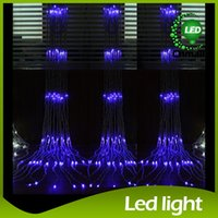 Wholesale led waterfall curtain lights - LED String Led Waterfall String Curtain Light 6m*3m 2m*2.5m 3m*3m Water Flow Christmas Wedding Party Holiday Decoration Fairy String Lights