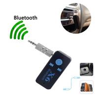 kart okuyucu müziği toptan satış-Araba Bluetooth X6 Müzik Alıcısı Adaptörü ile 3.5mm Jack Kablosuz Handsfree Araç Kiti TF Kart Okuyucu Fonksiyonu