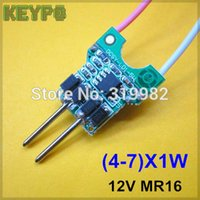 Wholesale Transformer For Mr16 Lamp 12v - Wholesale-20pcs lot 4-7X1W MR16 LED driver for 12V 4W 5W 6W 7W LED lamp transformer MR16 new type driver high quality power driver