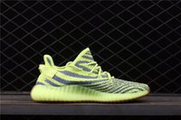 Wholesale Label For Fabric - Real label Kanye West 350 Boost V2 Semi Frozen Yebra Yellow Running For Men Women With Original Box Sneakers Authentic Qua Shoes B37572
