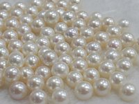 Wholesale Hot mm white natural pearl perfect circle half hole loose beads