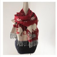Wholesale Thick Blankets For Winter - New thick warm Christmas blanket scarf for women 2015 hot Snowflake Castle fringed shawl scarves cashmere Pashmina Shawl for winter gifts