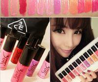 3ze lipgloss großhandel-Ein Set 12 Farbe 3CE 3 KONZEPT AUGEN Lipgloss Liquid Rouge