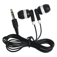 Wholesale Low Cost Wholesale Gifts - Wholesale 200Pcs lot Disposable Earphones Headphones Low Cost Earbuds for Theatre Museum School Library,Hotel,Hospital Gift