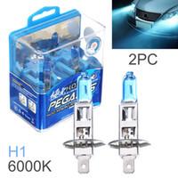 Wholesale Bright Halogen Bulbs - DHL Wholesale 2pcs H1 100W White Light Super Bright Car HOD Xenon Halogen Lamp Auto Front Headlight Fog Bulb CLT_60X