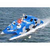 Wholesale Toy Military Boats - 2.4G High Speed Racing RC Boat Speed Electric Control Ship Model Military Toys