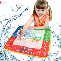 Wholesale Russian Months - Hot 49*49cm New Water Drawing Mat with 1pcs Magic Pen Russian Childs Water Drawing Board Baby Kids Toys Educational Learning Mat Board 19381