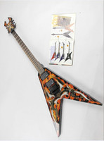 Wholesale Double V Guitar - Free shipping 2015 Tianyin Brand New Arrival Flying V shaped electric guitar Double wave electric guitar