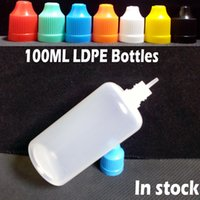 Wholesale Drop Bottles Thin - 100ml Plastic E Liquid Bottles 100ml Eye Drop Bottle With Childproof Caps Multicolor Long Thin Tip Needle Bottles Free Shipping
