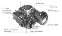 Wholesale Light Ir Illuminator - New Arrival Tactical Flashlight DBAL-D2 Dual Beam Aiming Laser Red w IR LED Illuminator Class 1 Not Red Dot CL15-0088