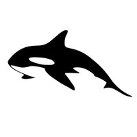 Wholesale whale accessories - 17*9CM Killer Whale Car Sticker Decal Interesting Cartoon Motorcycle Stickers Car Styling Accessories