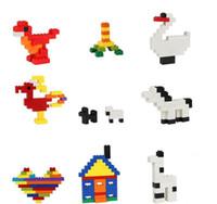 ingrosso giocattoli australiani-660PCS Australia Edificio arcobaleno per contenere blocchi Fai da te Piccole particelle Assemblato Scienza ed educazione I bambini giocano a blocchi Puzzle Giocattoli di mattoni