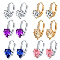 Wholesale 14k earring china for sale - Earring For Women K Gold Silver Earrings China Fashion Jewelry for Women Crown Rhinestone Stud Earrings Big Crystal Earrings