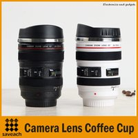 Wholesale Thermos Cups For Coffee - 400ML Stainless steel Coffee Cup Best Gift For Canon Fans 1:1 EF 24-105mm Thermos Camera Lens Mug for Coffee Milk Tea Water