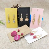 Wholesale Food Colouring Colours - Kraft Earring Card For 1 Pair Earring 5X9cm Mult Colours Black Kraft Pink White Yellow For Middle Long Earring 1lot=100 pcs