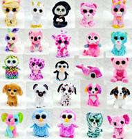 Wholesale Ty Beanie Boos Plush Stuffed Toys Big Eye Animals Rabbit Penguin Soft Toys Colorful Children Small Animals Dolls Plush Gifts